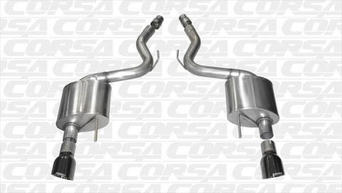 "Corsa 2015-2017 Mustang GT 3"" Touring Axle Back (Black 4.5"" Tips)"