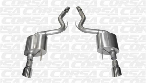 "Corsa 2015-2017 Mustang GT 2.75"" Touring Axle-Back System with Dual 4.5"" Polished Tips (Convertible)"
