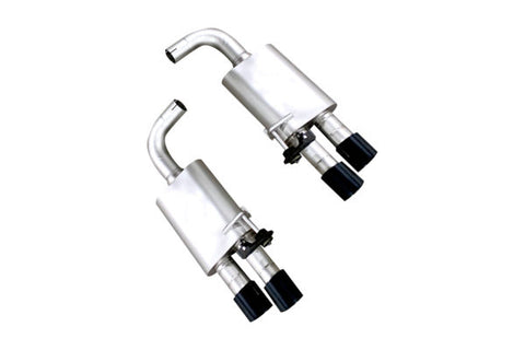 Ford Mustang GT ('18-'20) True Dual S550 Cat Back Exhaust System (Black TIp)
