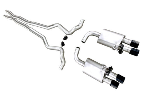 Ford Mustang GT ('18-'20) True Dual S550 Cat Back Exhaust System (Patriot Series)