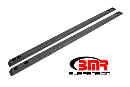 BMR CJR002H Mustang Chassis Jacking Rail, Super Low Profile - Black Hammertone (2015-2020 Mustang S550)