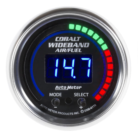 "2-1/16"" WIDEBAND PRO PLUS AIR/FUEL RATIO, 6:1-20:1 AFR, COBALT"