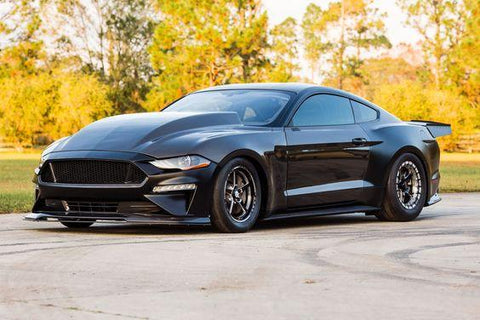"2018-2019 FORD MUSTANG DOUBLE SIDED TYPE-CJ 4"" CARBON FIBER COWL HOOD"