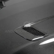 2018-2020 FORD MUSTANG TYPE-OE DOUBLE SIDED CARBON FIBER HOOD