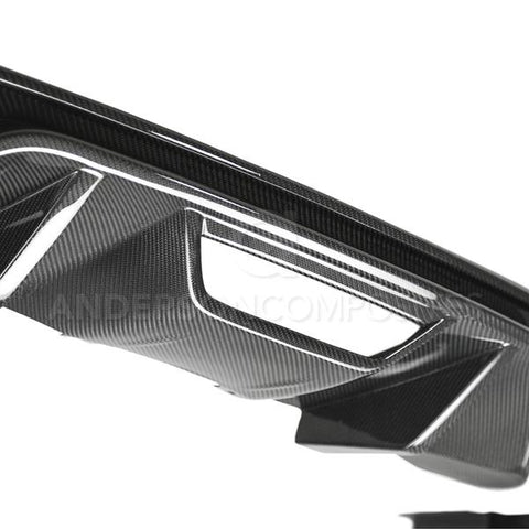2018-2020 FORD MUSTANG TYPE-OE CARBON FIBER QUAD TIP REAR DIFFUSER
