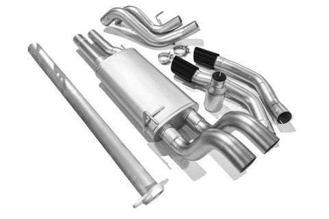 Ford F150 Catback Exhaust ('15-'20) True Dual Cat Back Exhaust System (Black Tip)