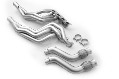 "Ford Mustang ('15-'20) Long Tube Headers With Factory Connection Pipes – Gen 2/3 Coyote Headers 1-3/4"" Primary"
