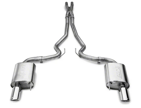 Borla Stinger S-Type 2.50-Inch Cat-Back Exhaust with Polished Tips (2015-2017 Mustang GT)