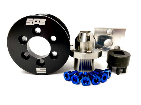 SPE 2020 GT500 Pulley Kit with Tools - Stainless Steel Hub