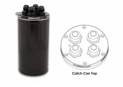 VIBRANT PERFORMANCE UNIVERSAL OIL BREATHER CATCH CAN TANK RECIRCULATING TOP CLOSED LOOP