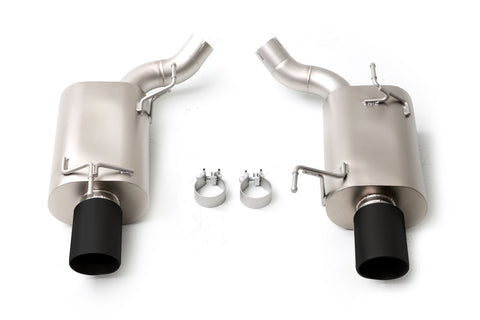 "Long Tube Headers Axle-Back Exhaust System With 4"" Black Tips Stainless Steel GT 2005-2010 / GT500 2007-2010"
