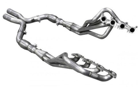 "American Racing Headers 2015-2017 Mustang 1-7/8"" x 3"" Long Tube Headers and Catted X Pipe (Bottleneck Eliminator System)"