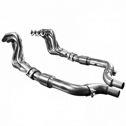 "Kooks 1151H631 2"" x 3"" Long Tube Headers OEM Connect w/ GREEN Catted Connection Pipes (2015-2020 Mustang GT)"