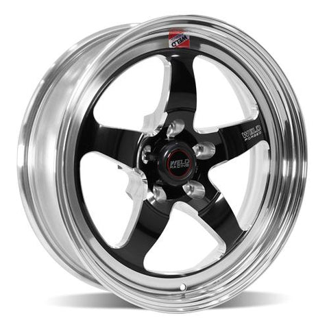1979-2019 Mustang Weld RT-S S71 Drag Wheel - 17x5 Black/Polished