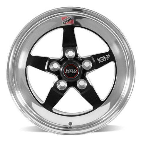 2015-2019 Mustang Weld RT-S S71 Drag Wheel - 17x10 Black/Polished