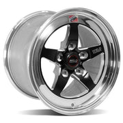 2005-2014 Mustang Weld RT-S S71 Drag Wheel - 15x10 Black/Polished