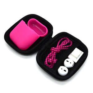 Deluxe Starter Kit for Apple AirPods 2/1 (Hot Pink)