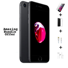 Load image into Gallery viewer, Apple iPhone 7 32GB (Black) + Tempered Glass + Case + Earphones + 3m Cable
