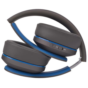 Moki Navigator Noise Cancelling Wireless Over-Ear Headphones For Kids (Blue) [Volume Limited] - iChameleon