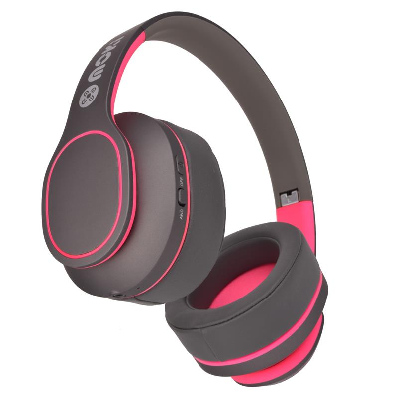 Moki Navigator Noise Cancelling Wireless Over-Ear Headphones For Kids (Pink) [Volume Limited] - iChameleon