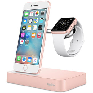 Belkin Valet Charge Dock for Apple Watch & iPhone (Rose Gold) - iChameleon
