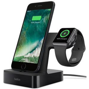 Belkin PowerHouse Charge Dock for Apple Watch & iPhone (Black) - iChameleon
