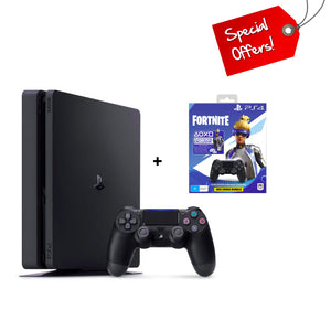 PS4 PlayStation 4 500GB Console + Fortnite Extra Controller Bundle