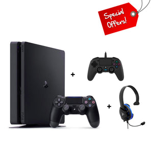 PS4 PlayStation 4 500GB Console + Extra Nacon Controller + Turtle Beach Headset