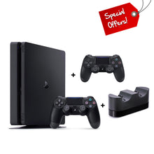 Load image into Gallery viewer, PS4 PlayStation 4 500GB Console + Extra Controller + Charging Station