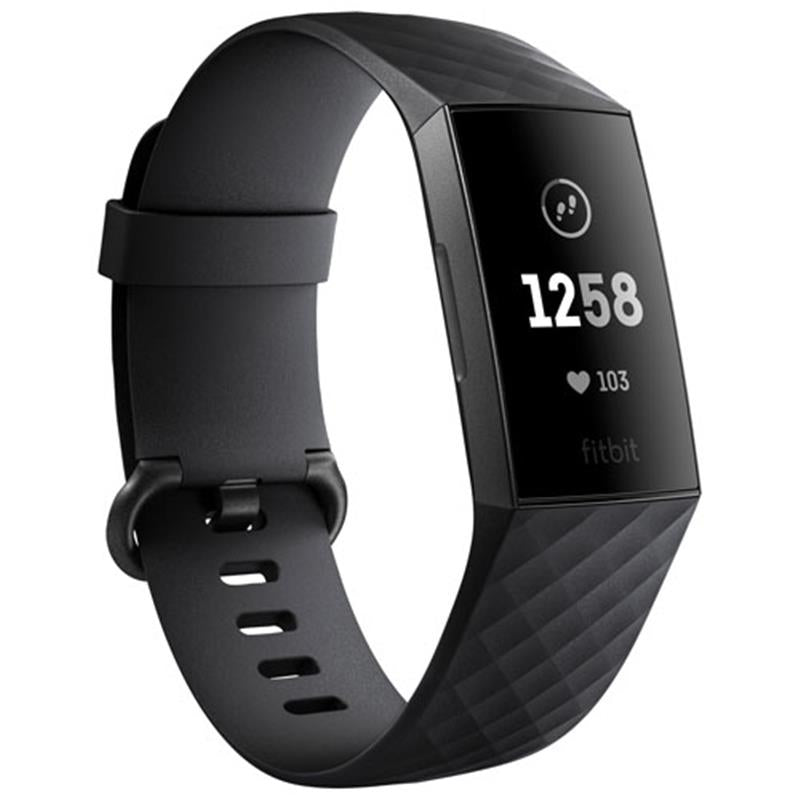Fitbit Charge 3 (Black/Graphite Aluminium) - iChameleon