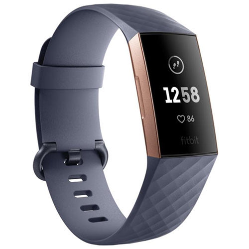Fitbit Charge 3 (Blue Grey/Rose Gold Aluminium) - iChameleon