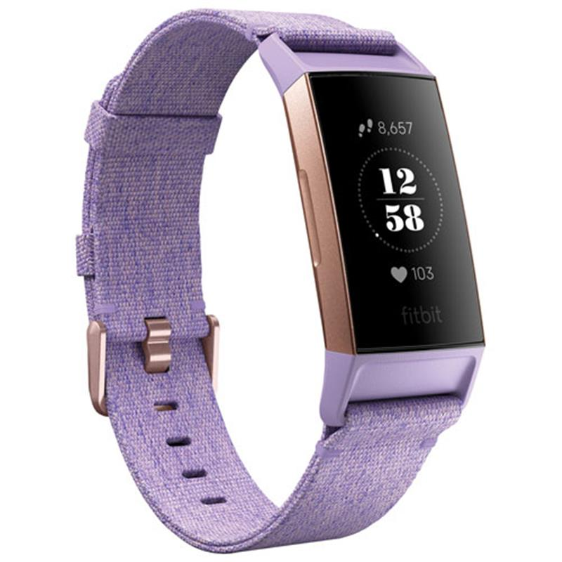 Fitbit Charge 3 Special Edition (Lavender Woven/Rose Gold Aluminium) - iChameleon
