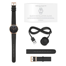 Load image into Gallery viewer, Withings / Nokia Steel HR Leather Smart Watch (Rose Gold/Black) - iChameleon