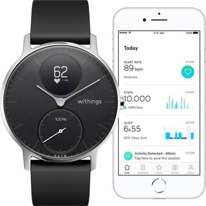 Withings / Nokia Steel HR 36mm Smart Watch (Black)