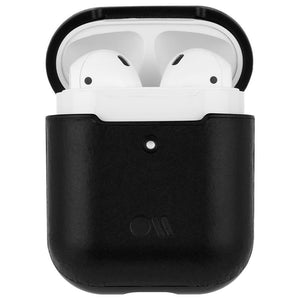 Case-Mate Leather Hoop-Ups Case for Apple AirPods (Black) - iChameleon