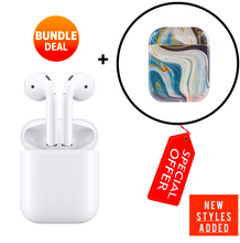 Load image into Gallery viewer, Apple Airpods with Charging Case (2nd Gen) + Protective Case [Bundle] 2020