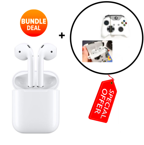 Apple Airpods with Charging Case (2nd Gen) + Protective Case [Bundle]