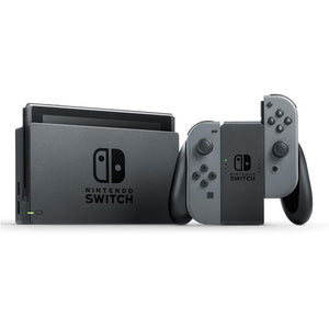 Nintendo Switch Console Grey (New Look Packaging) + Case + Screen Protector + Extra Controller