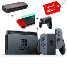 Load image into Gallery viewer, Nintendo Switch Console Grey (New Look Packaging) + Case + Screen Protector + Extra Controller