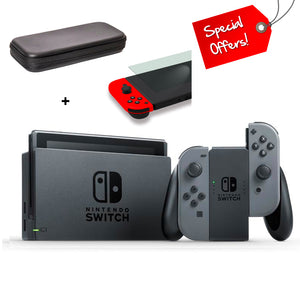Nintendo Switch Console Grey (New Look Packaging) + Case + Screen Protector