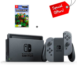 Nintendo Switch Console Grey (New Look Packaging) + Minecraft (Game)