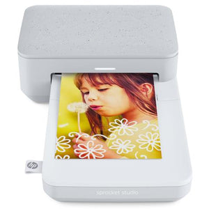 HP Sprocket Studio Photo Printer (Snow)