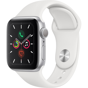 Apple Watch Series 5 (44mm) Silver Aluminum Case [GPS]