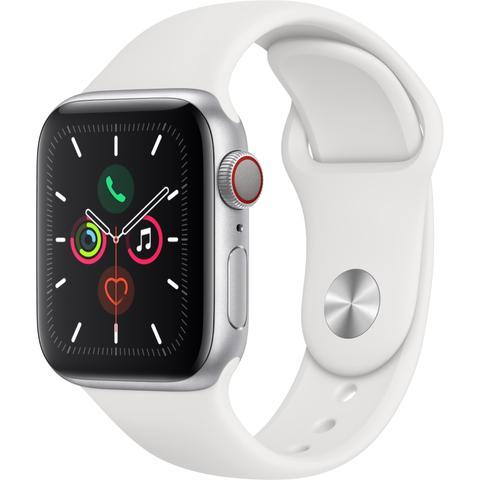 Apple Watch Series 5 (44mm) Silver Aluminum Case [GPS + Cellular]