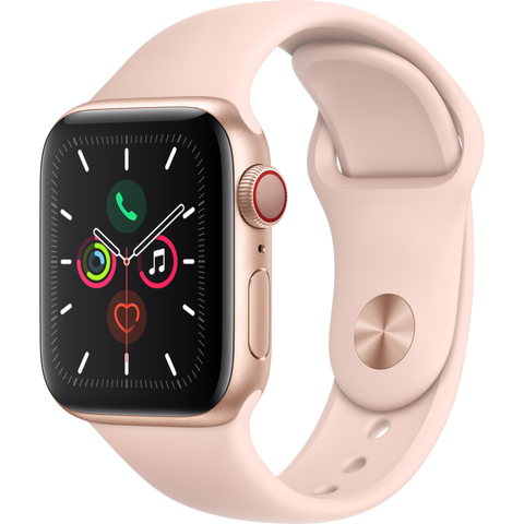 Apple Watch Series 5 (44mm) Gold Aluminum Case [GPS + Cellular]