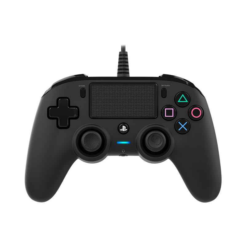 Nacon Wired Compact Controller for PlayStation 4 (Black) - iChameleon