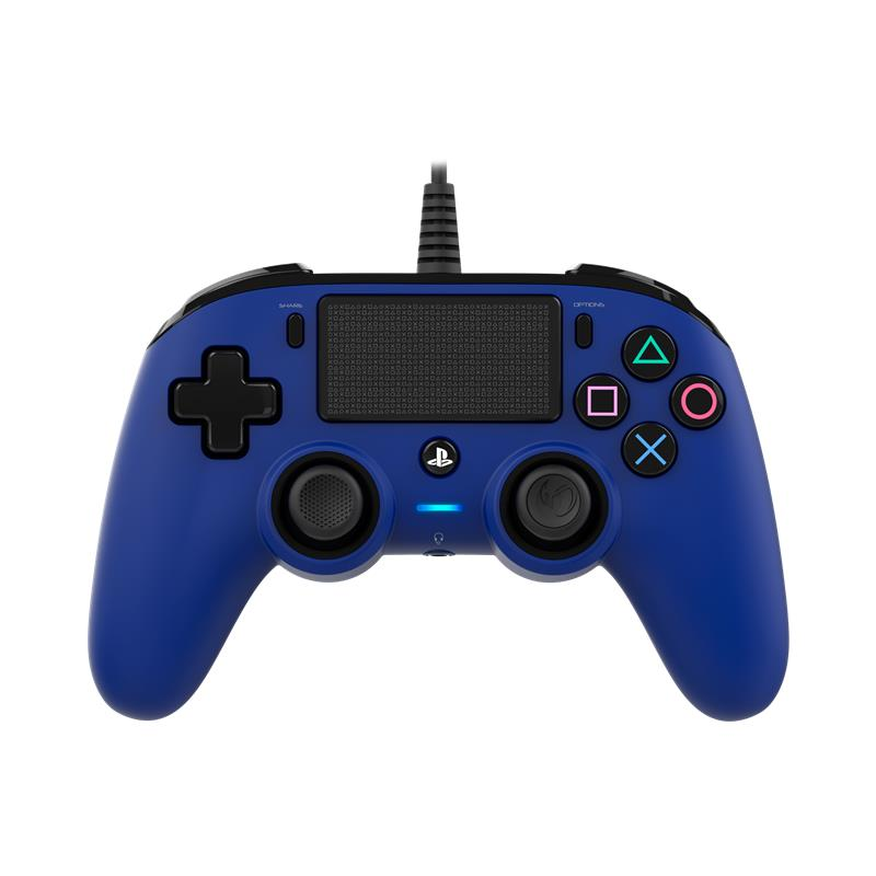 Nacon Wired Compact Controller for PlayStation 4 (Blue) - iChameleon