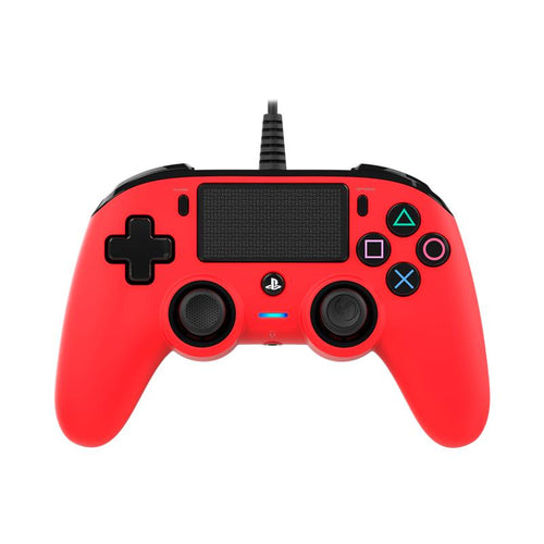 Nacon Wired Compact Controller for PlayStation 4 (Red) - iChameleon
