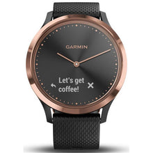Load image into Gallery viewer, Garmin Vivomove HR Hybrid Watch with Black Band (Rose Gold Sport) [Medium]