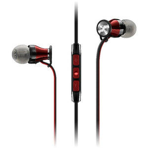 Sennheiser Momentum In-Ear Headphones (iOS, Red/Black) - iChameleon